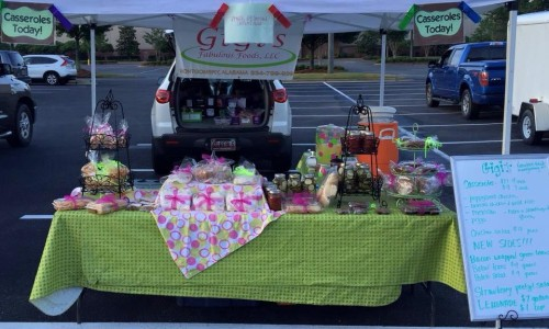 GiGi's Fabulous Foods sets up shop at the Eastchase, Prattville, and Rocky Ridge Farmers Markets.
